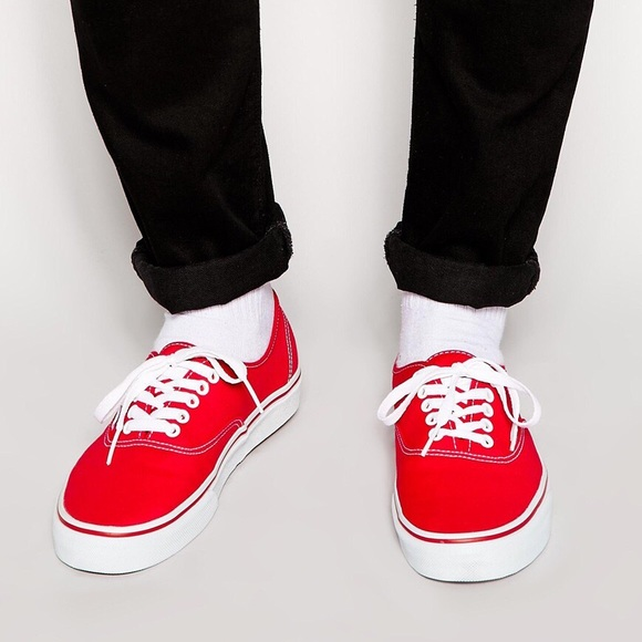 f0f9d1fb97 Vans Authentic Canvas Red Men s Size 13. M 5a45107561ca1009f00cfbb0